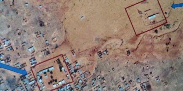 Das Schulgelände von oben - Satellitenbild von Google Earth
